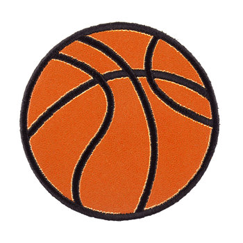 Basketball Iron-On Applique - Large